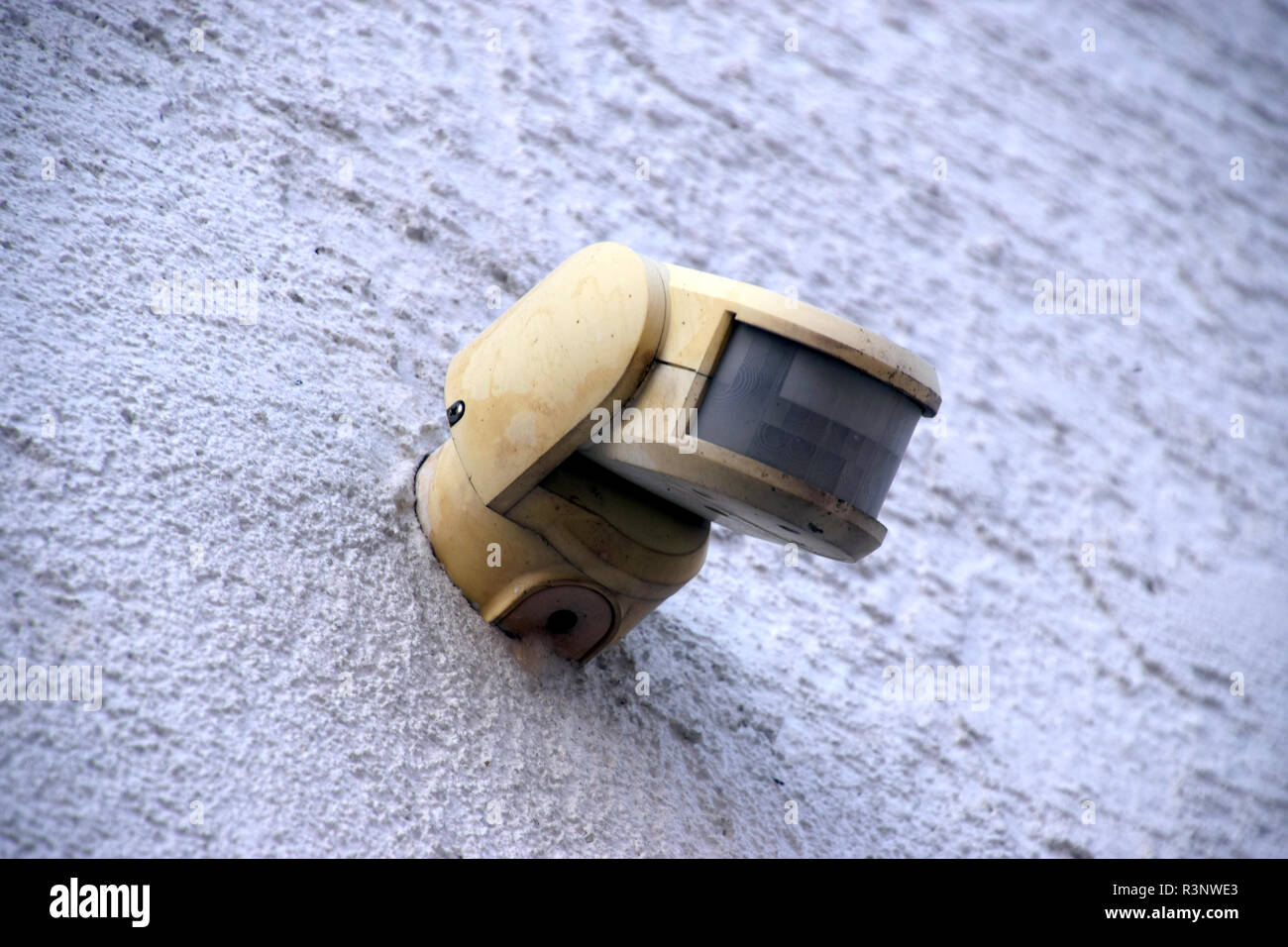 Tremendous Old And Dirty Motion Detector On A House Wall In The Outdoor Download Free Architecture Designs Embacsunscenecom