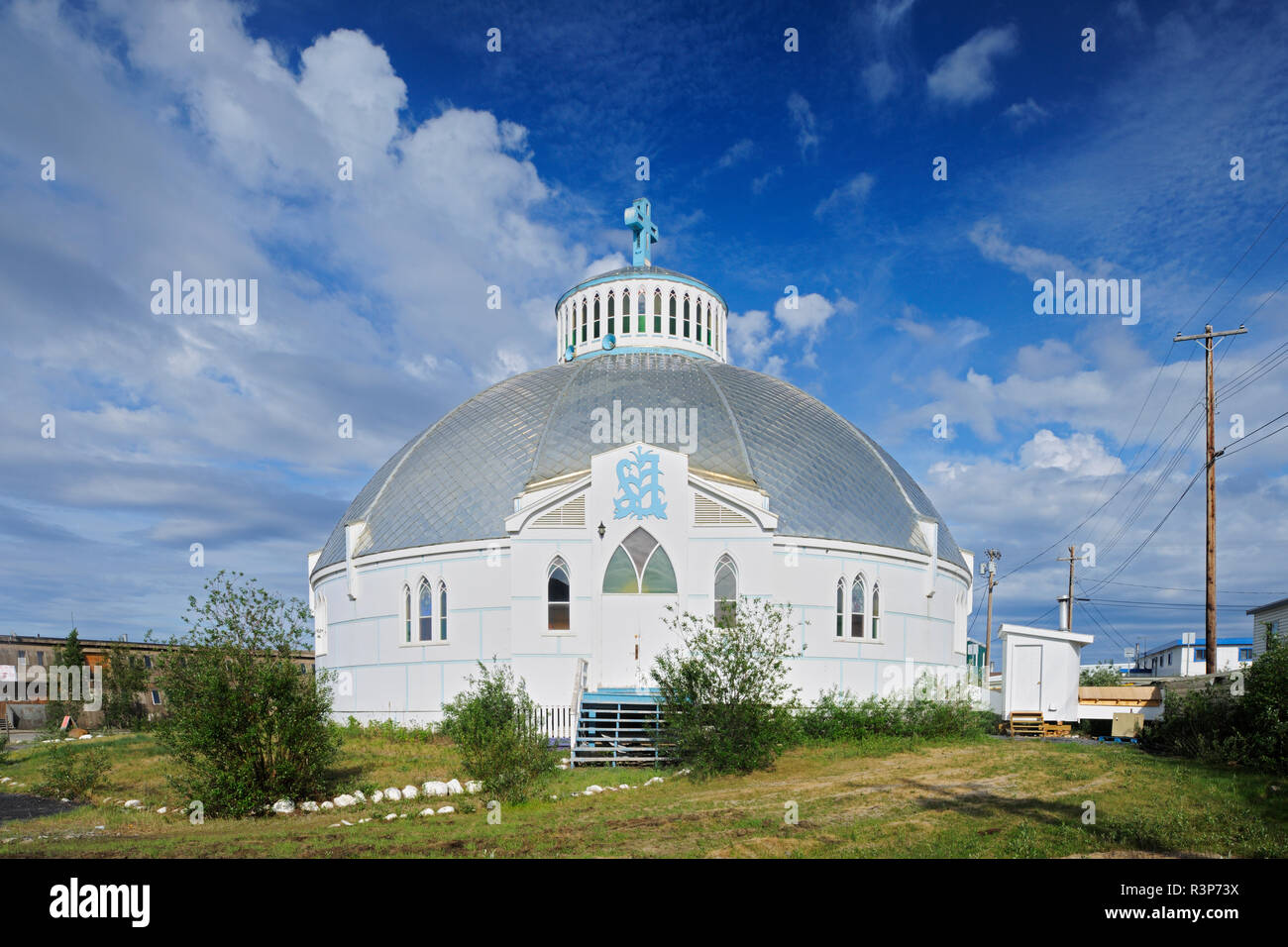 Canada, Northwest Territories, Inuvik. Our Lady of Victory Parish church. - Stock Image