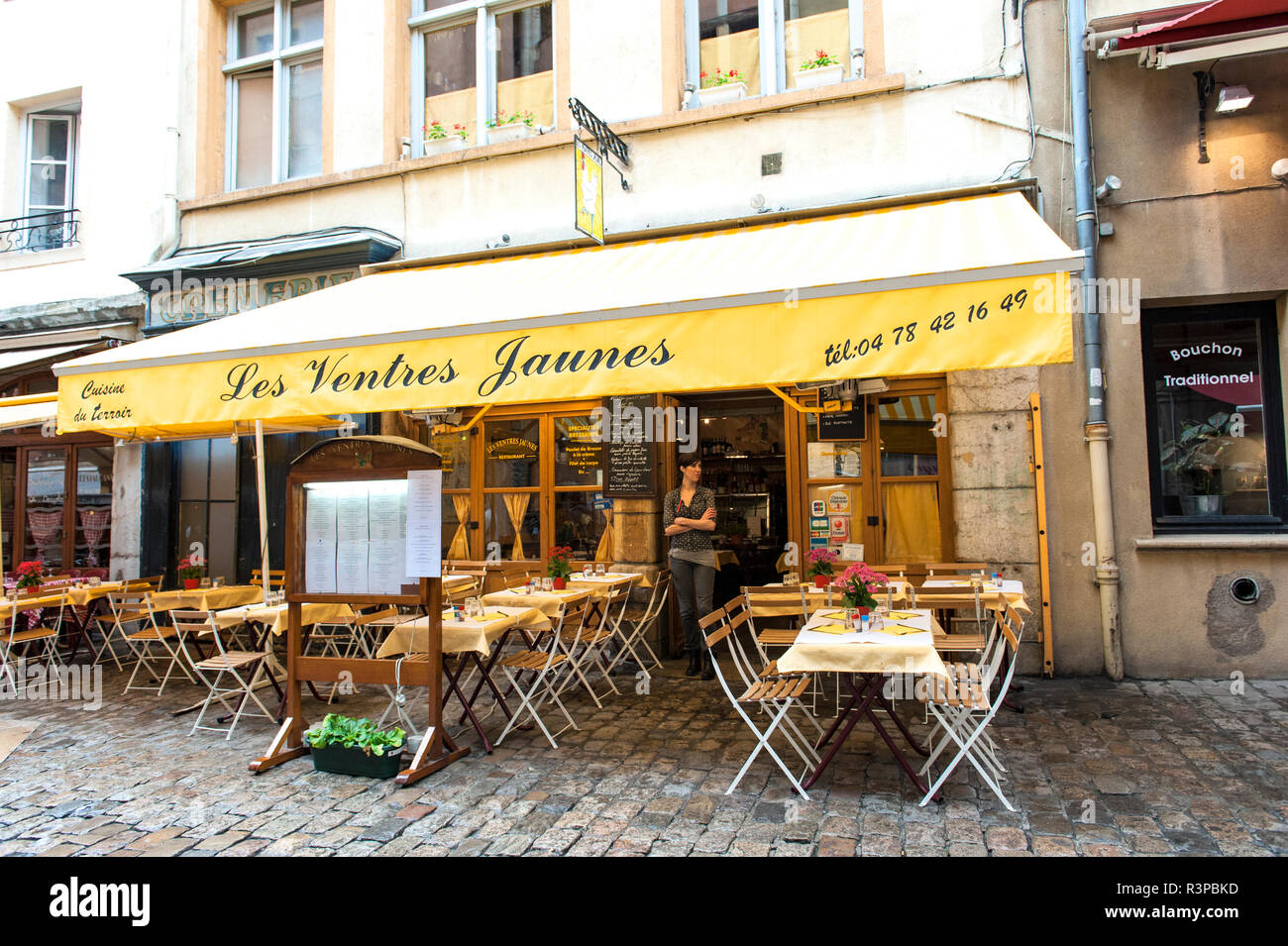 French Cafe Old Town Lyon France Stock Photo 226070865 Alamy