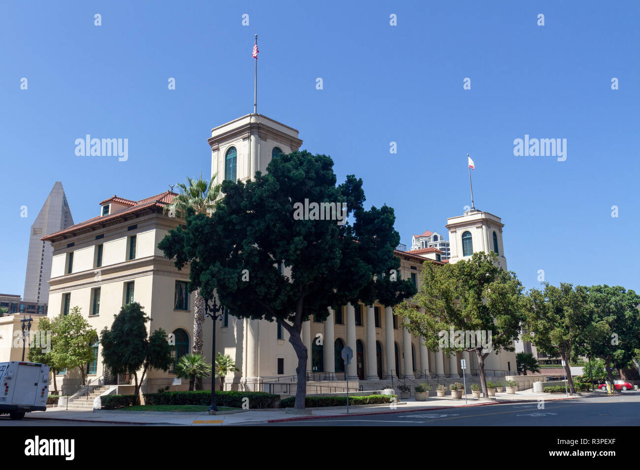The Jacob Weinberger United States Courthouse (bankruptcy court) in San Diego, California, United States, - Stock Image