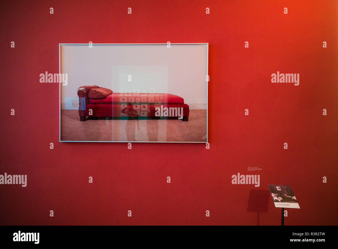Austria, Vienna, Sigmund Freud Museum, psychoanalyst's couch (Editorial Use Only) - Stock Image