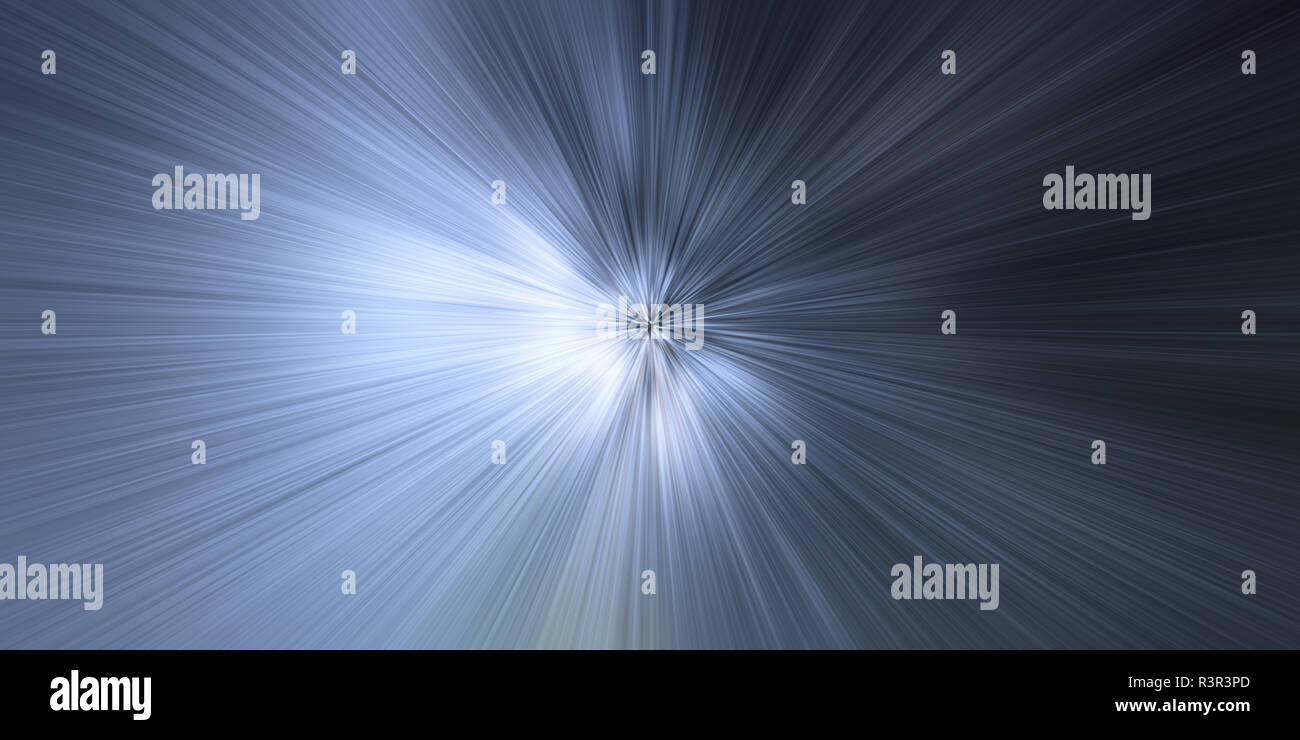Time warp, light speed, time travel concept background - Stock Image