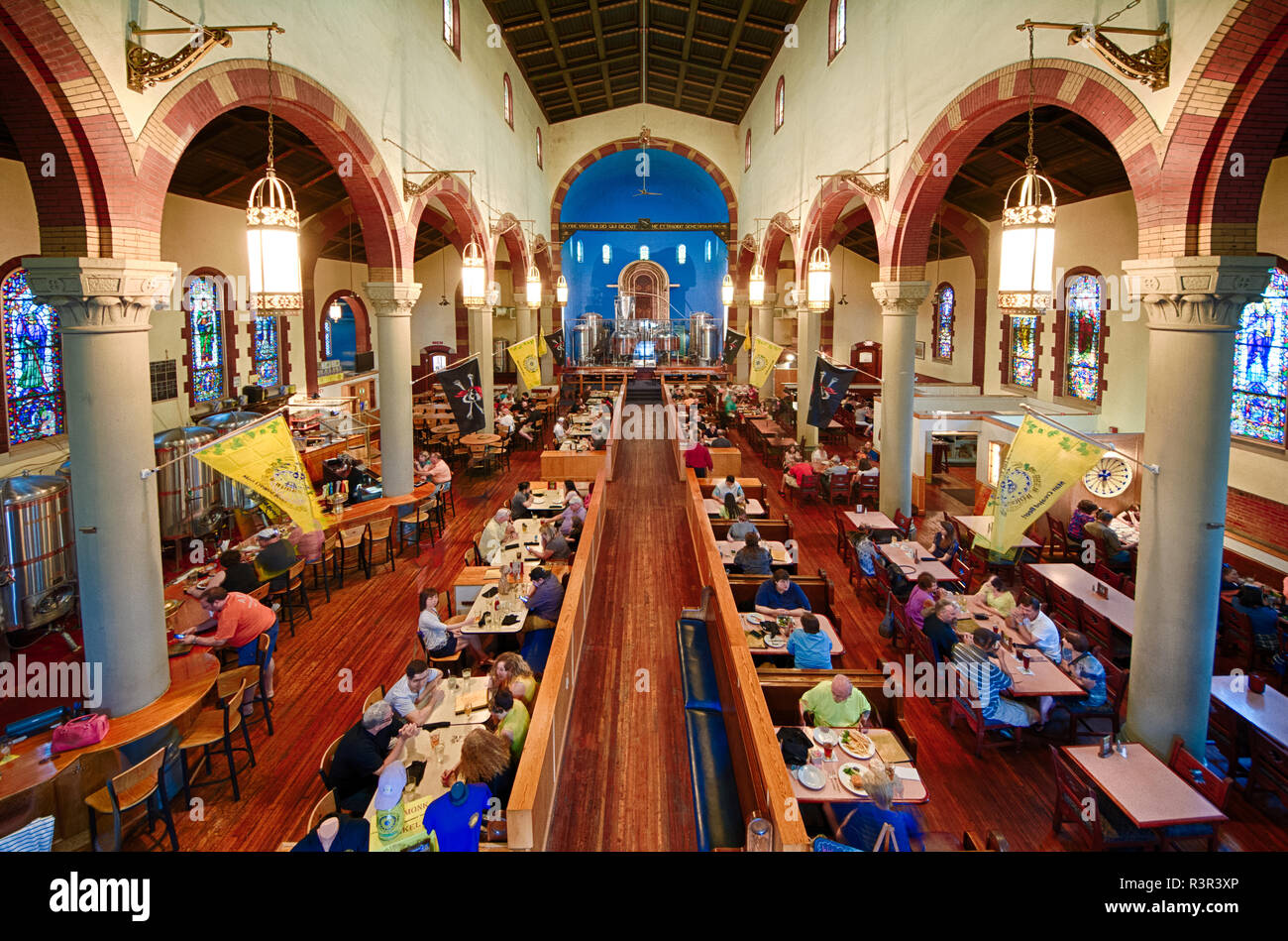 The Church Brew Works is a brewpub in Pittsburgh, Pennsylvania, USA, set in the confines of a restored Roman Catholic church (formerly St. John the Ba - Stock Image