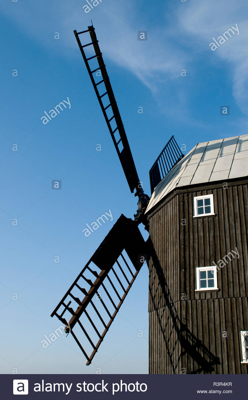 Historische Windmühle - Stock Image