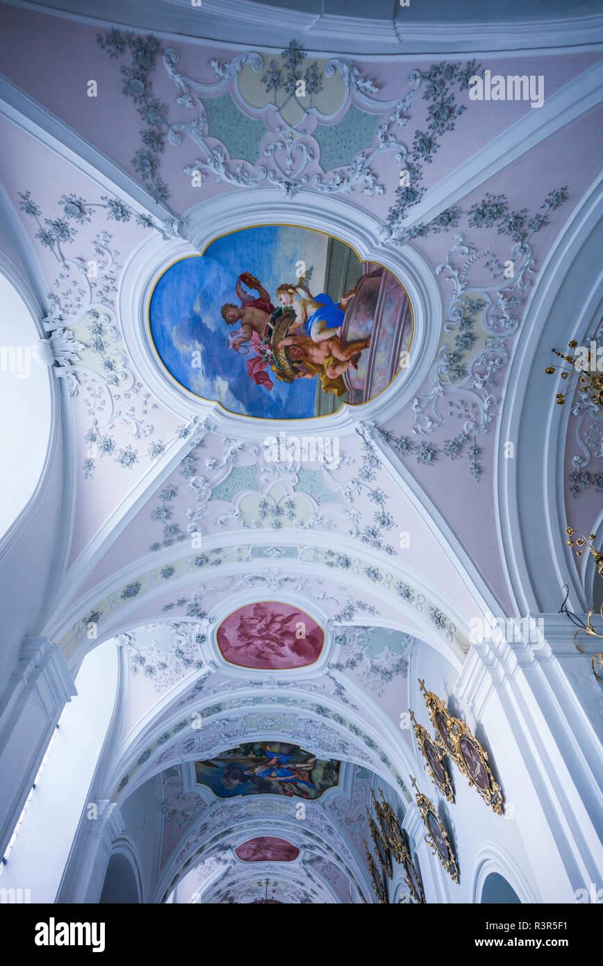 Austria, Tyrol, Stams, Stams Abbey interior Stock Photo