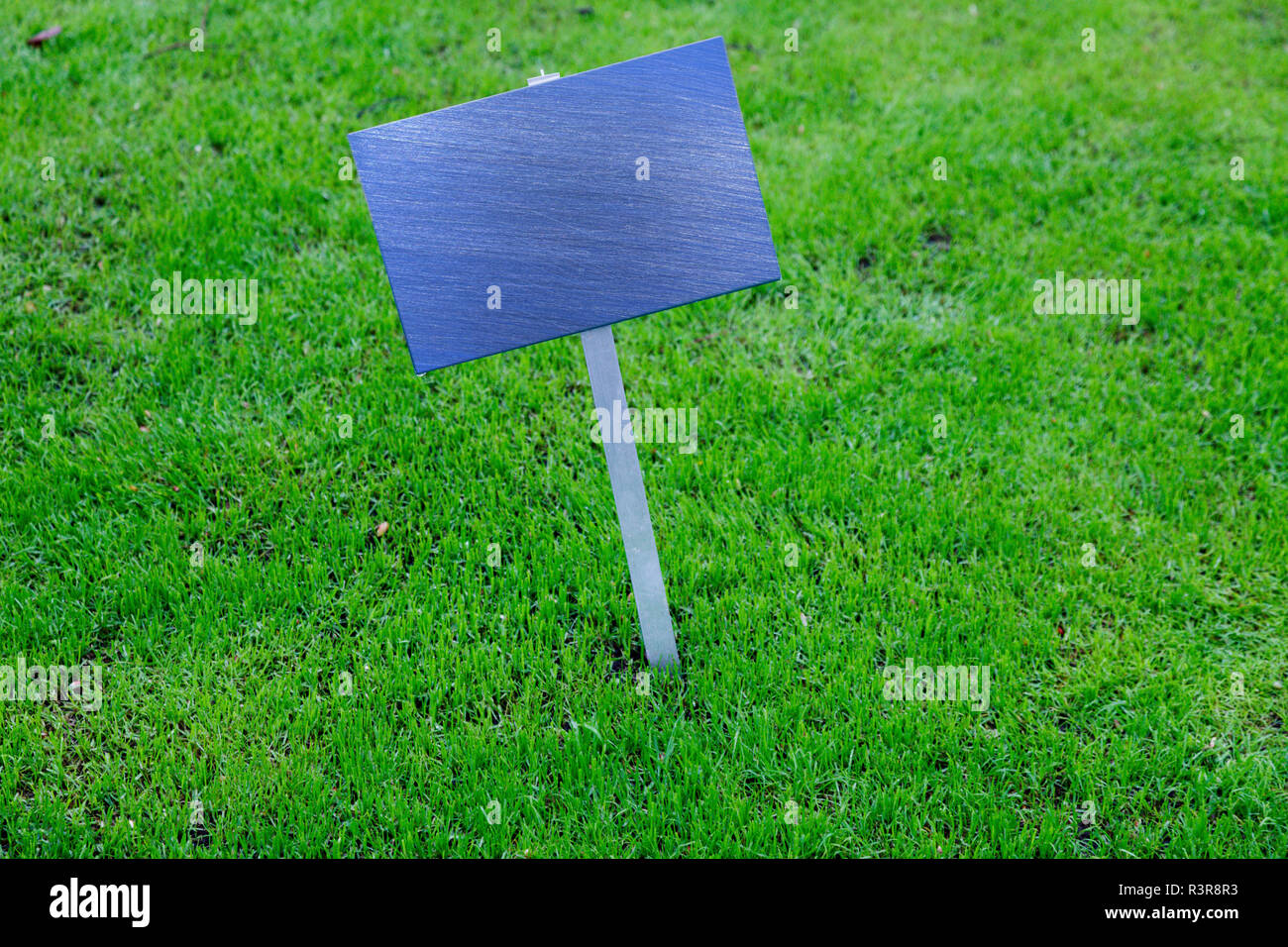 Empty sign on lawn. - Stock Image