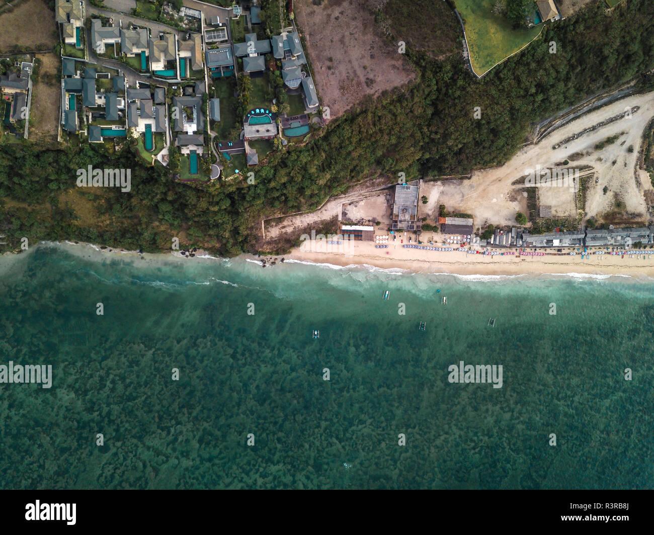 Indonesia, Bali, Aerial view of Pandawa beach Stock Photo