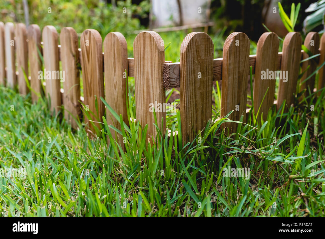 Small Wooden Fence In A Garden Stock Photo 226094127 Alamy