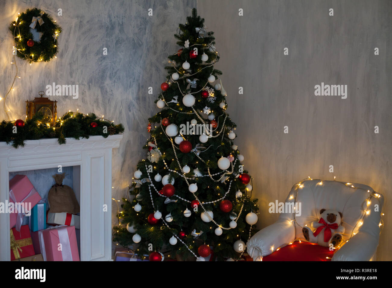 Christmas 2019 2020 winter Christmas bedroom bedholiday gifts new year 2019 2020 Stock