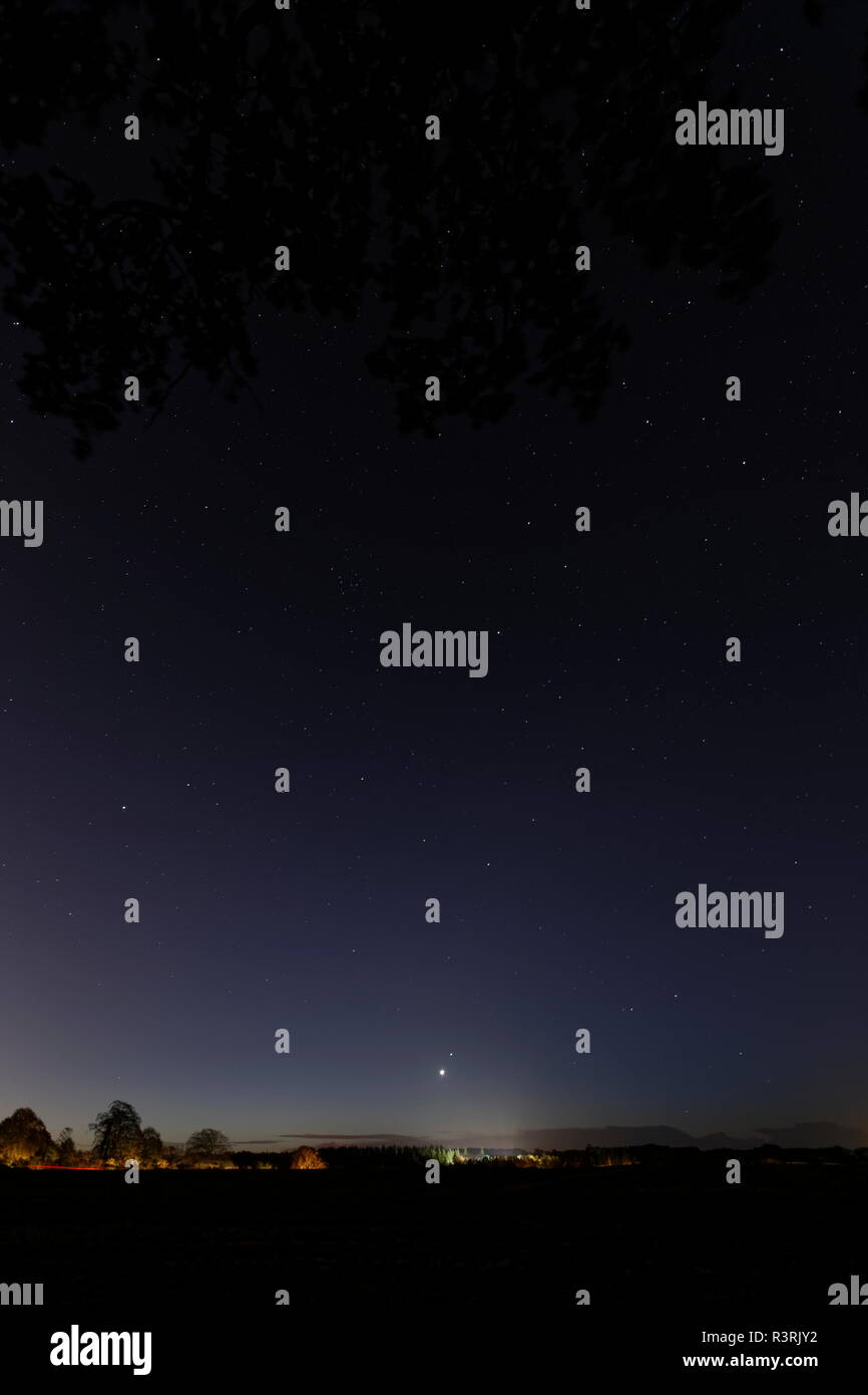 Venus dominates the early dawn as she rises just above the