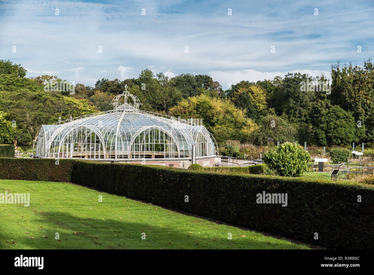 Local tourists having a walk at the National Botanical Gardens visiting the medicinal gardens and glasshouse - Stock Image