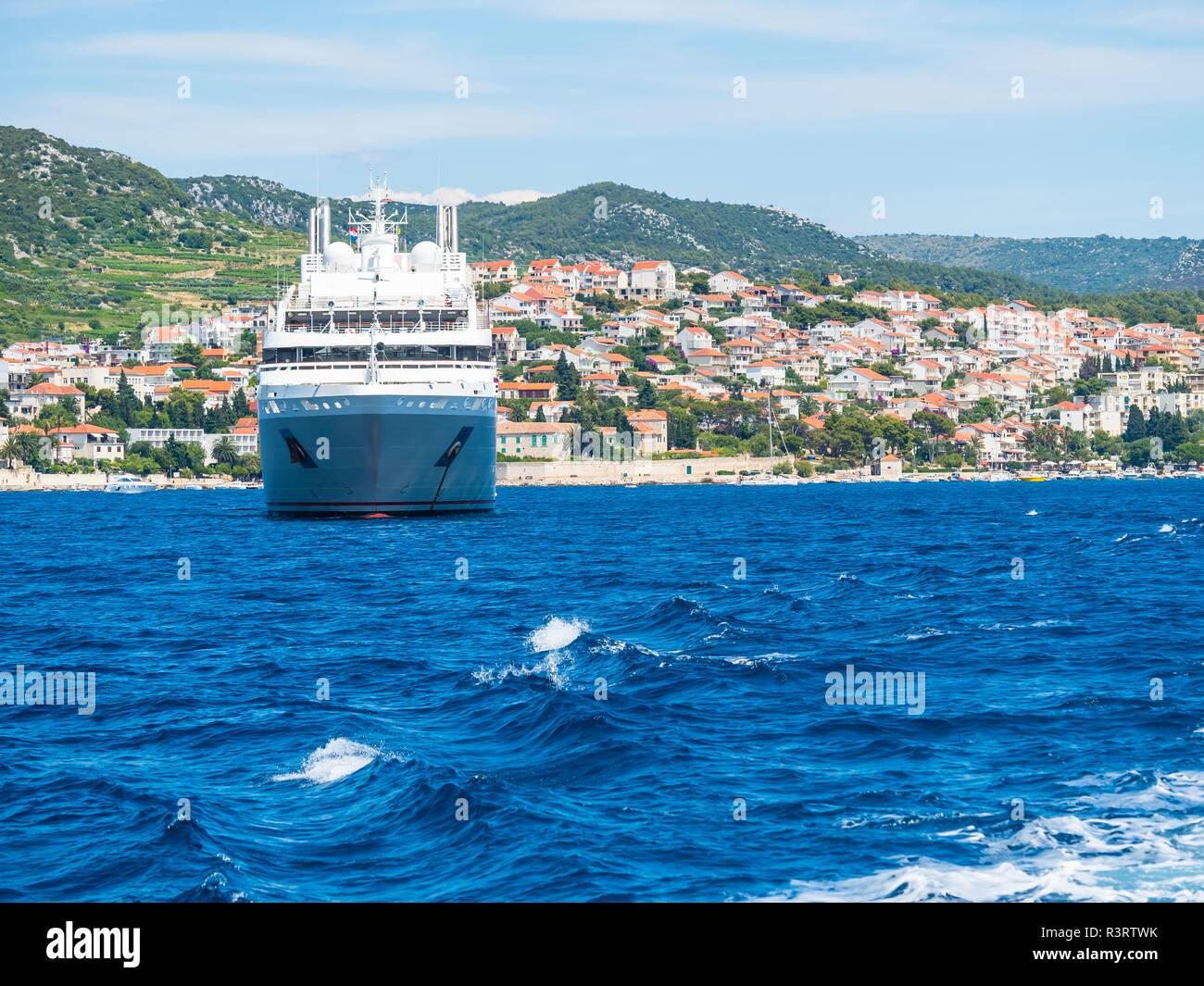 Croatia, Adriatic coast, Dalmatia, Murvica, Cruise liner - Stock Image