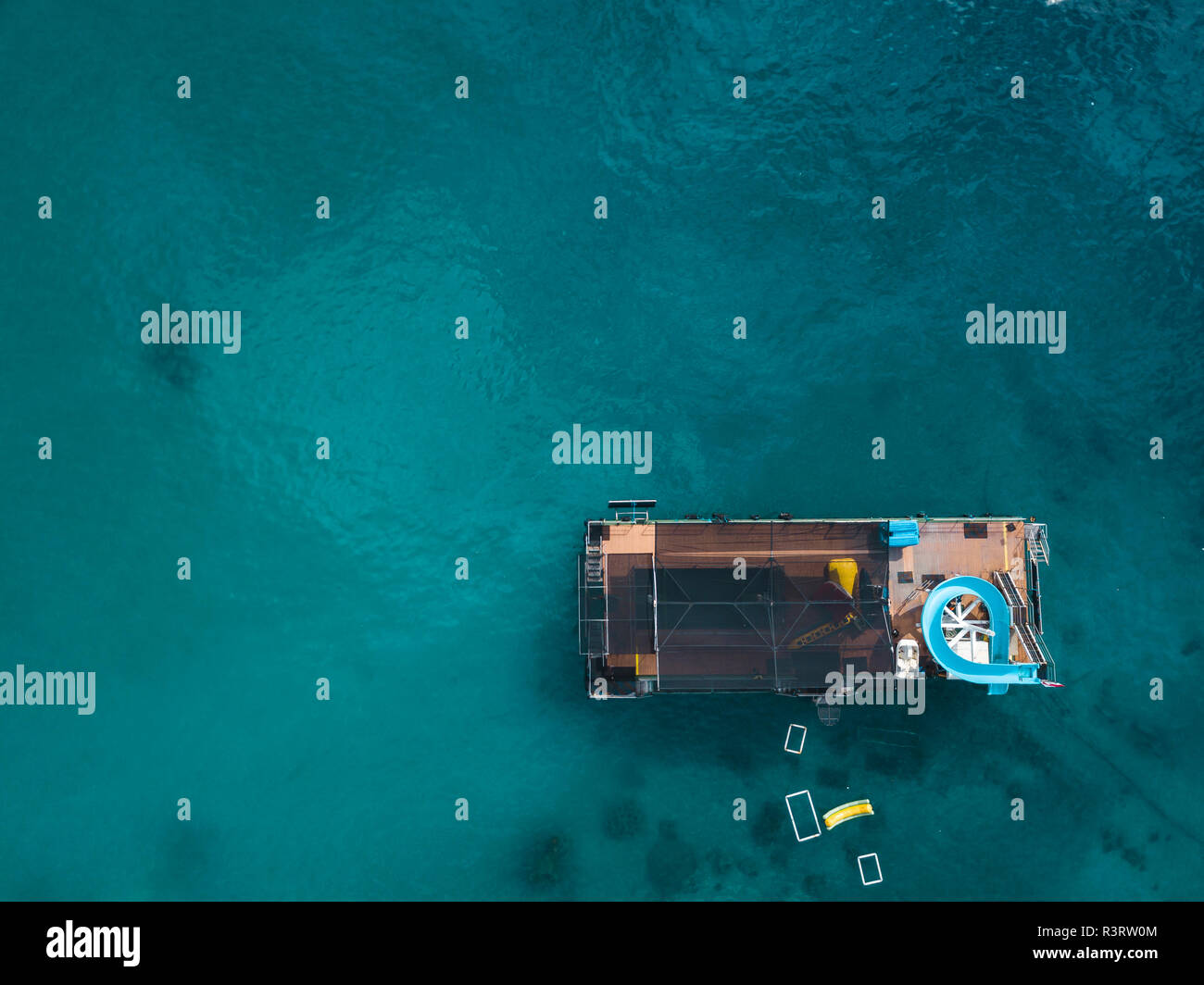 Indonesia, Bali, Aerial view of bathing platform - Stock Image
