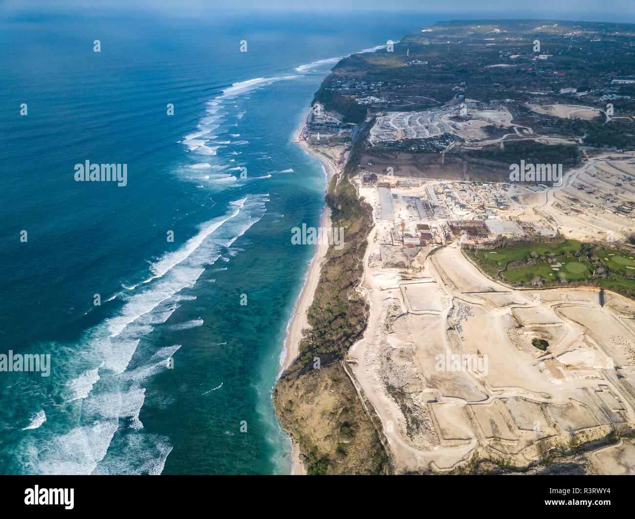 Indonesia, Bali, Aerial view of Payung beach - Stock Image