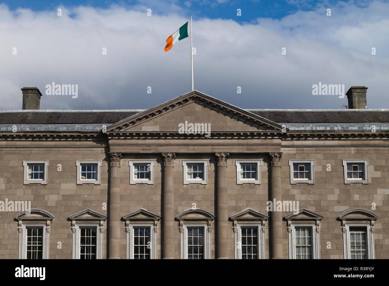 Ireland, Dublin, Leinster House, Irish Parliament Stock Photo