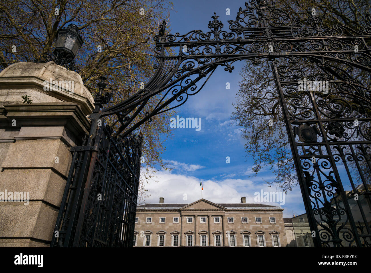 Ireland, Dublin, Leinster House, Irish Parliament Stock Photo