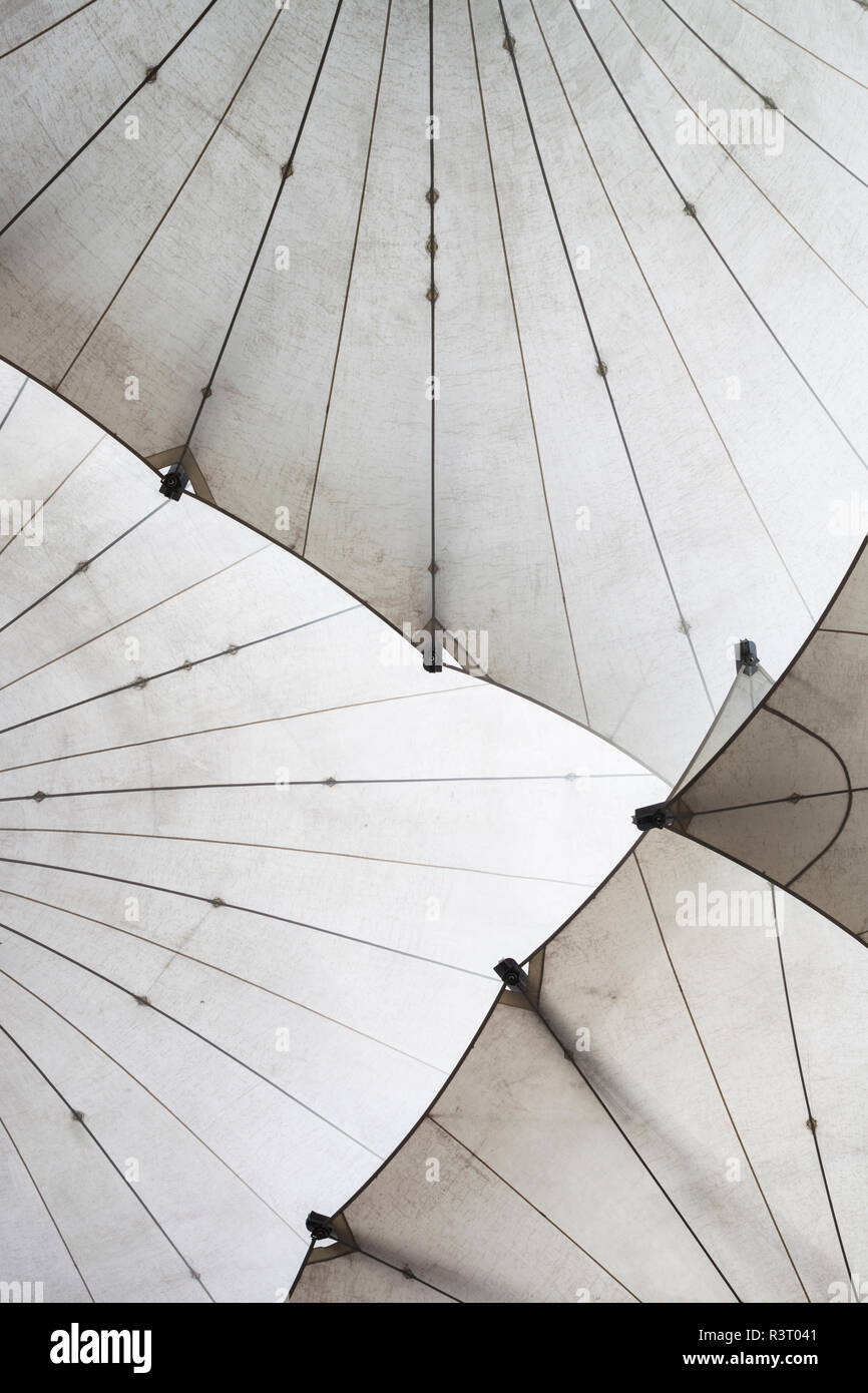 Ireland, Dublin, Temple Bar, large umbrellas outside the Dublin Photographic Archive - Stock Image