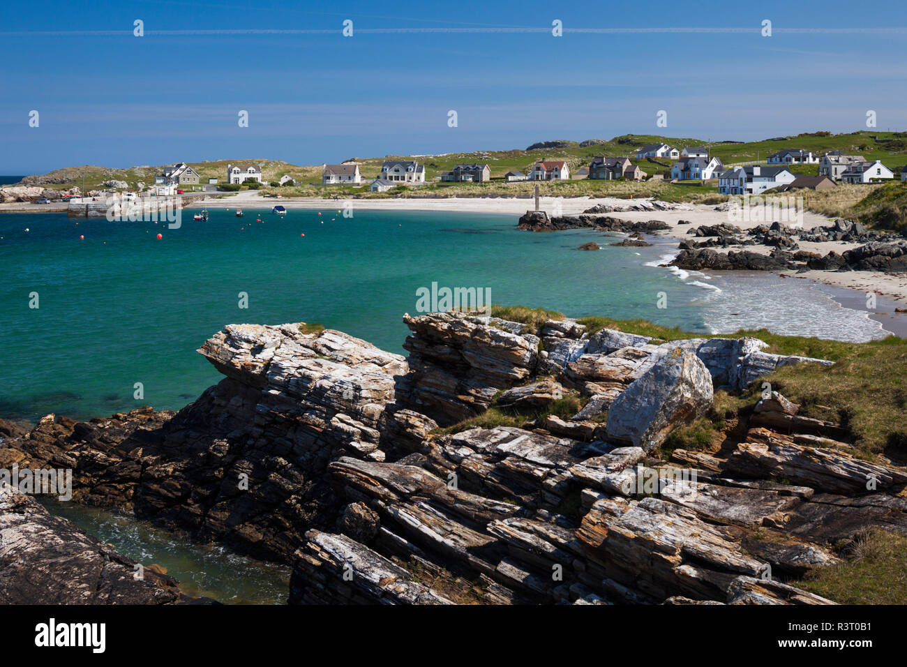 Ireland, County Donegal, Dunfanaghy, small harbor - Stock Image