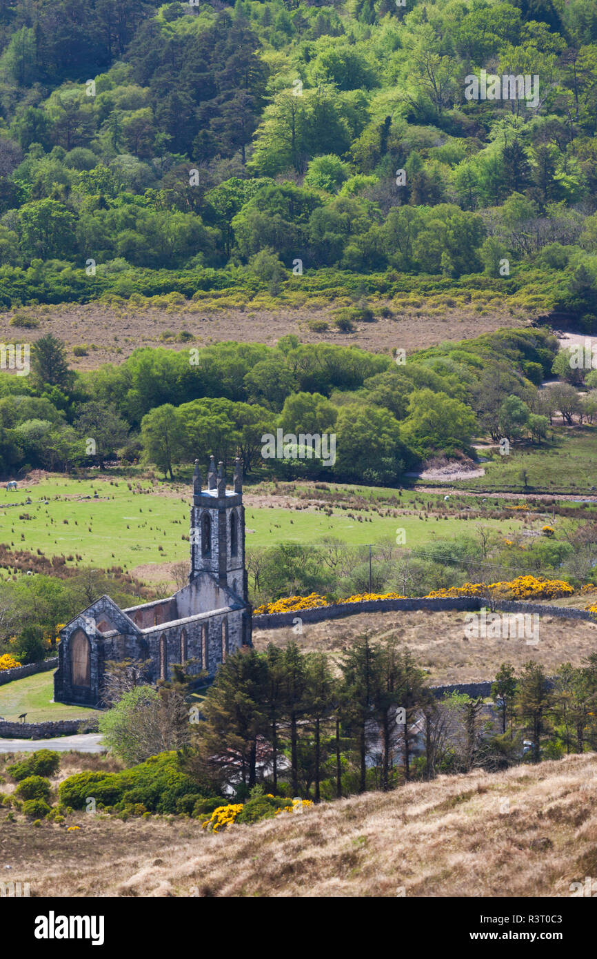 Ireland, County Donegal, Dunlewy, elevated view of the Poisoned Glen - Stock Image