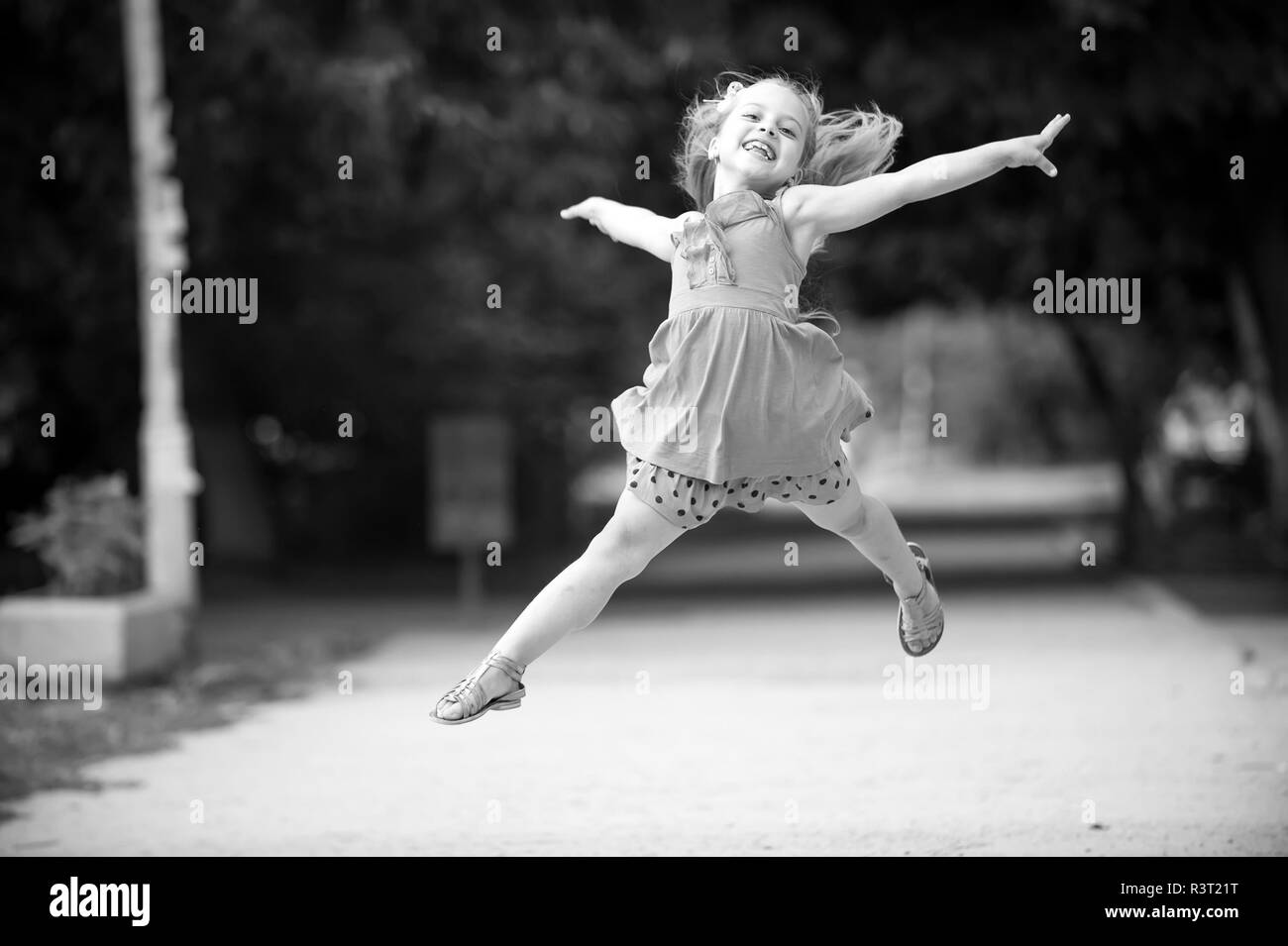 8181ee78 small baby girl or cute happy child with adorable smiling face and bow in  blonde hair