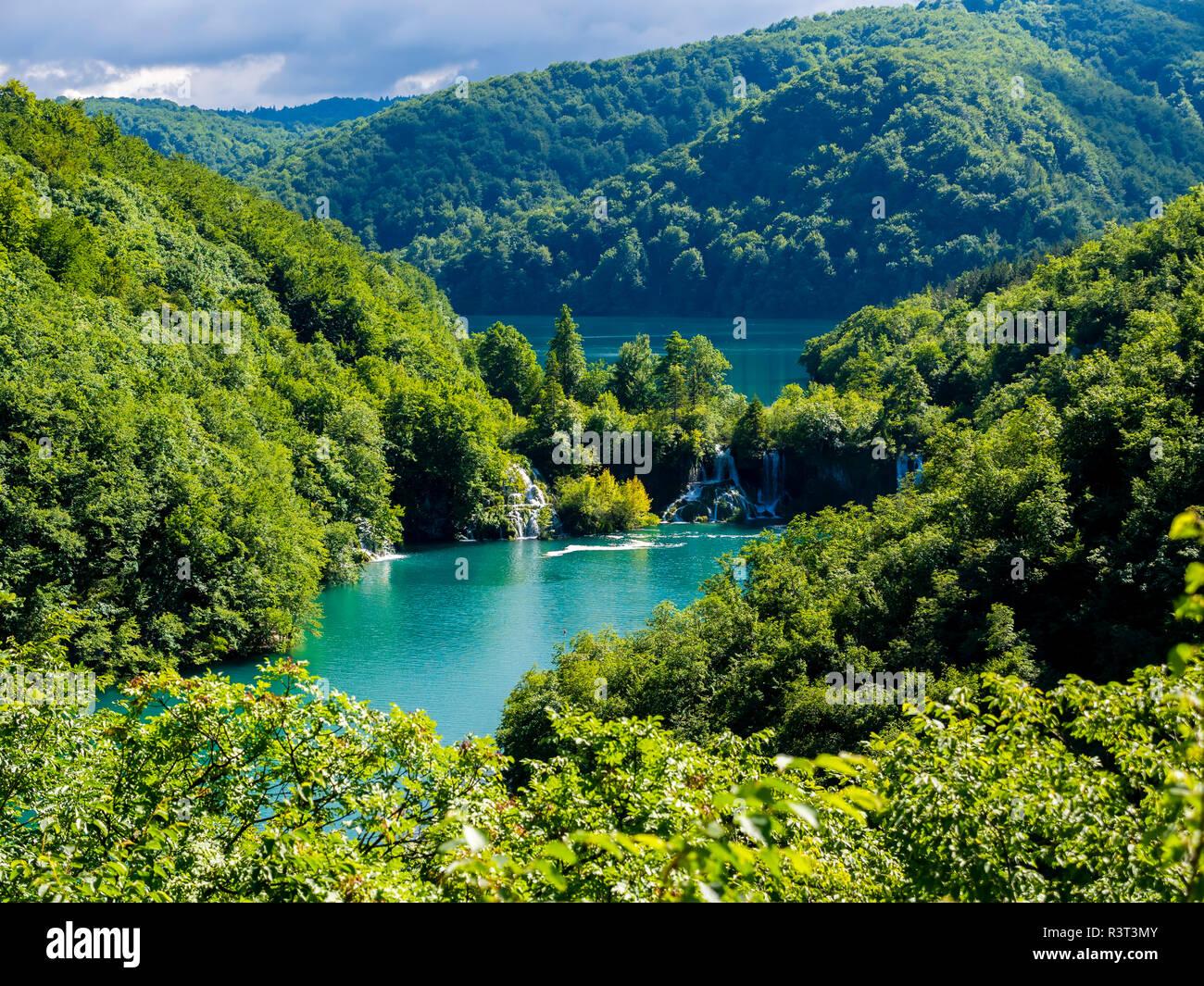 Europa, Kroatien, Lika-Senj, Osredak, Plitvica Selo,  UNESCO-Weltnaturerbe, Nationalpark Plitvicer Seen - Stock Image