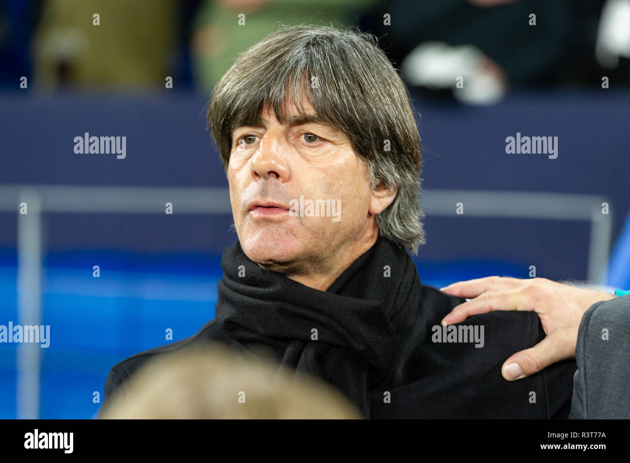 Gelsenkirchen, Germany 18 November 2018 UEFA Nations League Germany - The Netherlands    coach Joachim Low of Germany - Stock Image