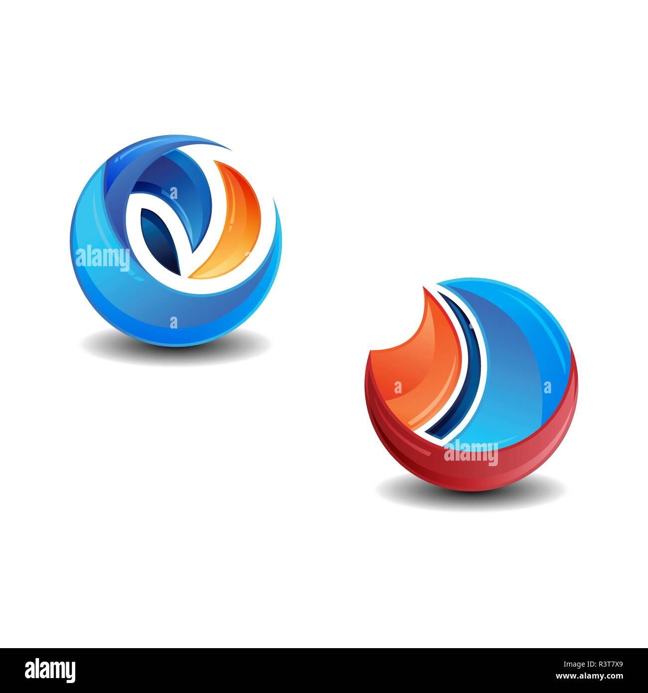 d74e1a41dc1b3 Vector circle ring logo design. Abstract circle logo template. Round ring  circle and infinity loop symbol, technology icon, circle line logo. Company