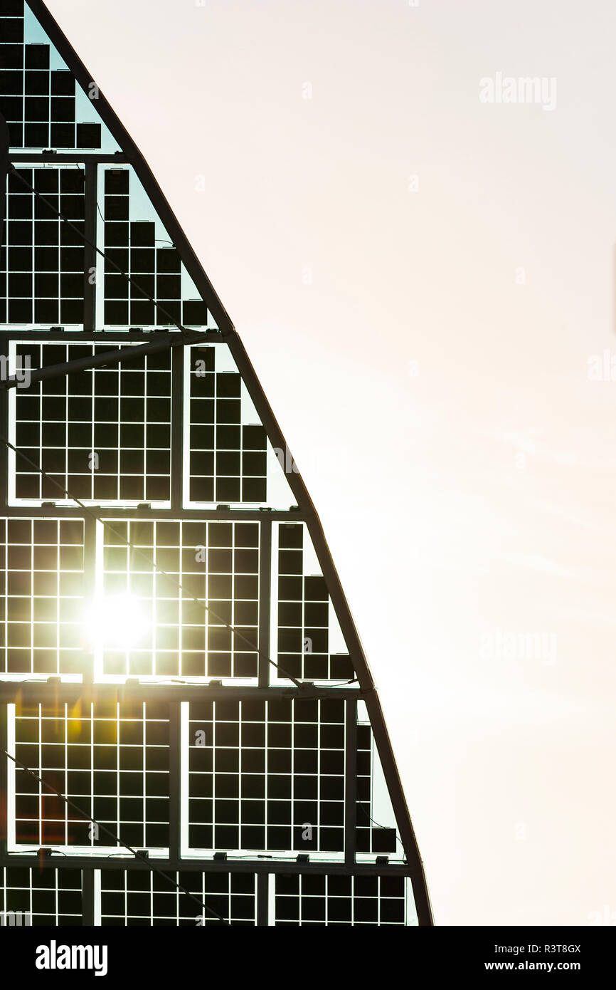 Germany, Karlsruhe, Sail shaped solar panels - Stock Image