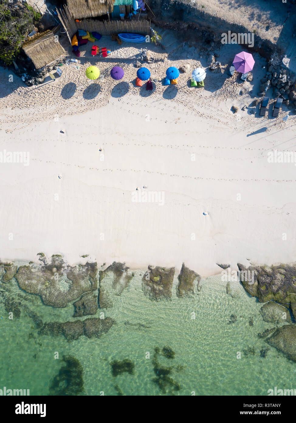 Indonesia, Bali, Aerial view of Melasti beach - Stock Image