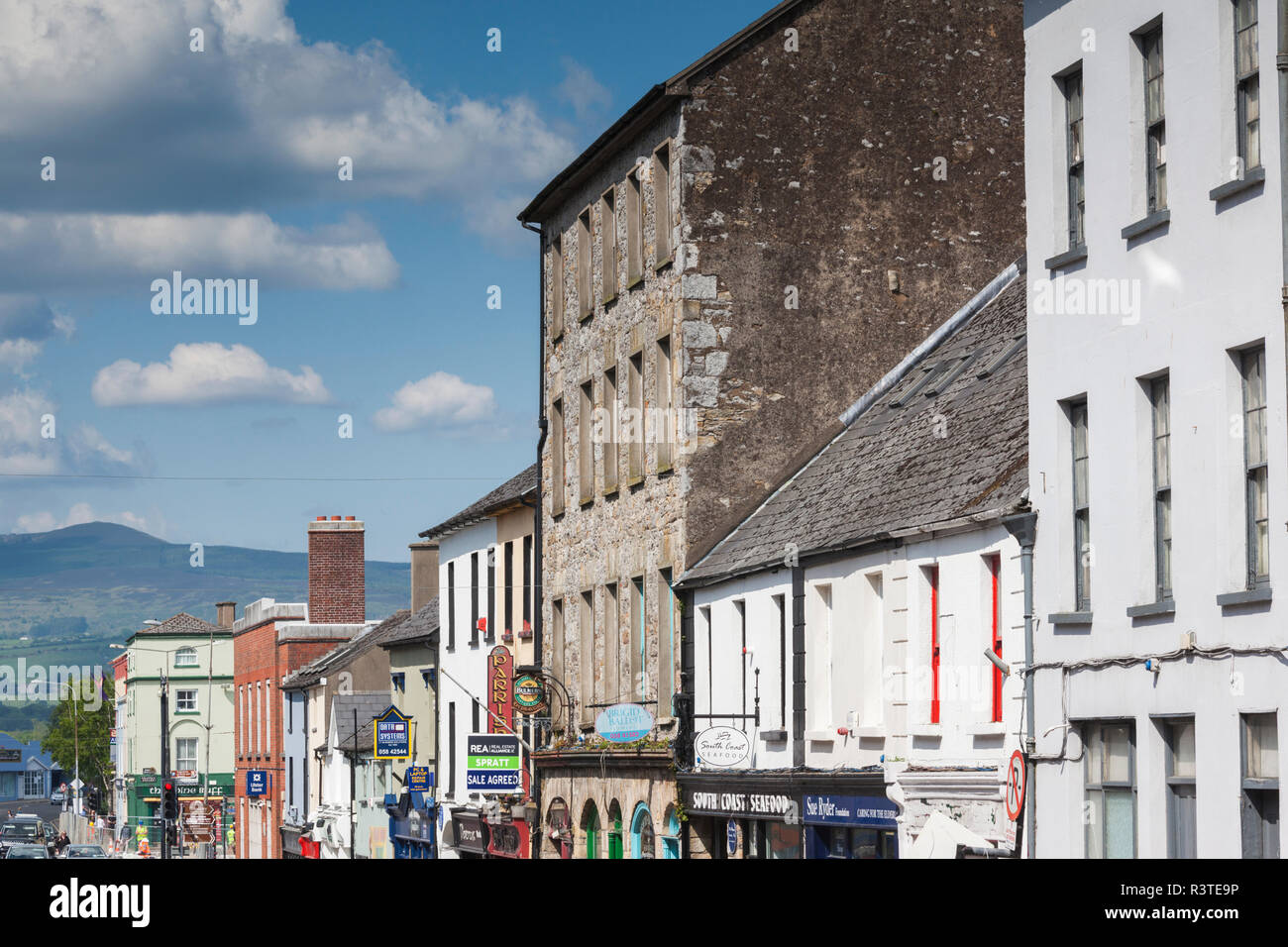 9d0f8a3b7538f Ireland, County Waterford, Dungarvan, town buildings Stock Photo ...
