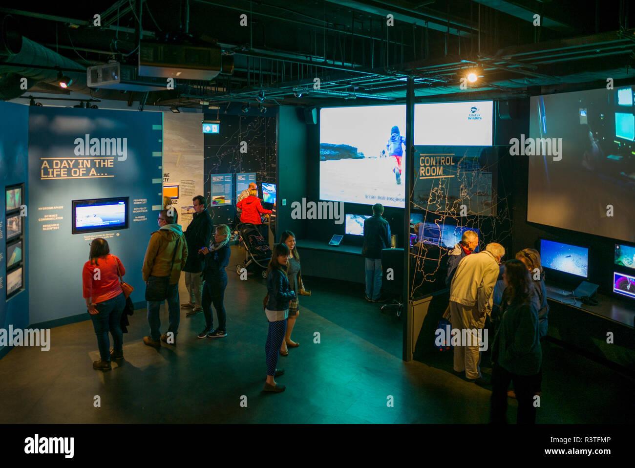 UK, Northern Ireland, Belfast Docklands, Interior of Titanic Belfast Museum - Stock Image