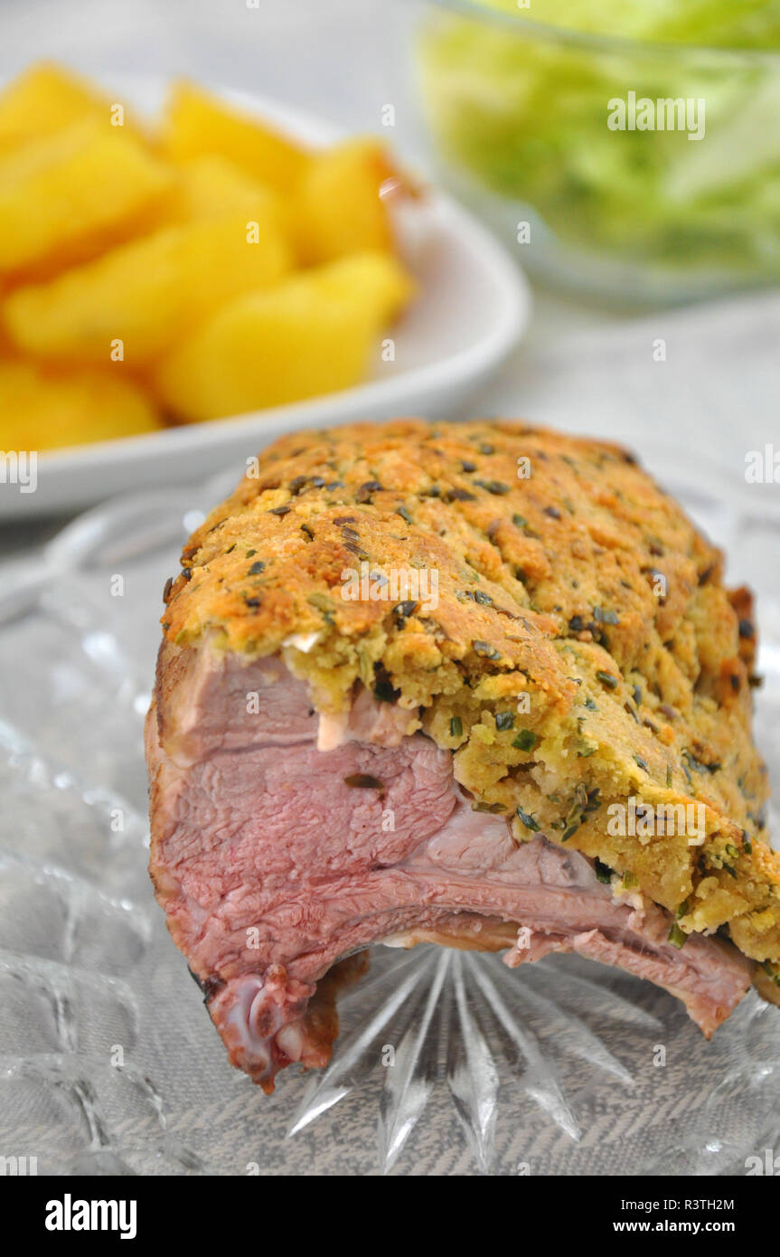 Roasted Lamb - Stock Image