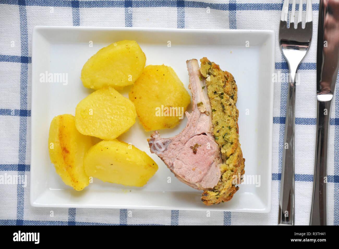 Roasted Lamb - Stock Image