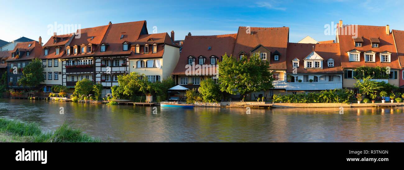 Houses of Klein Venedig (LIttle Venice), Bamberg (UNESCO World Heritage Site), Bavaria, Germany - Stock Image