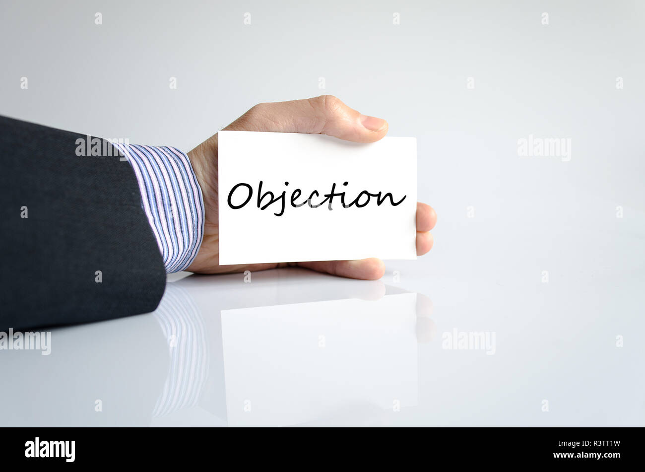 Objection text concept - Stock Image