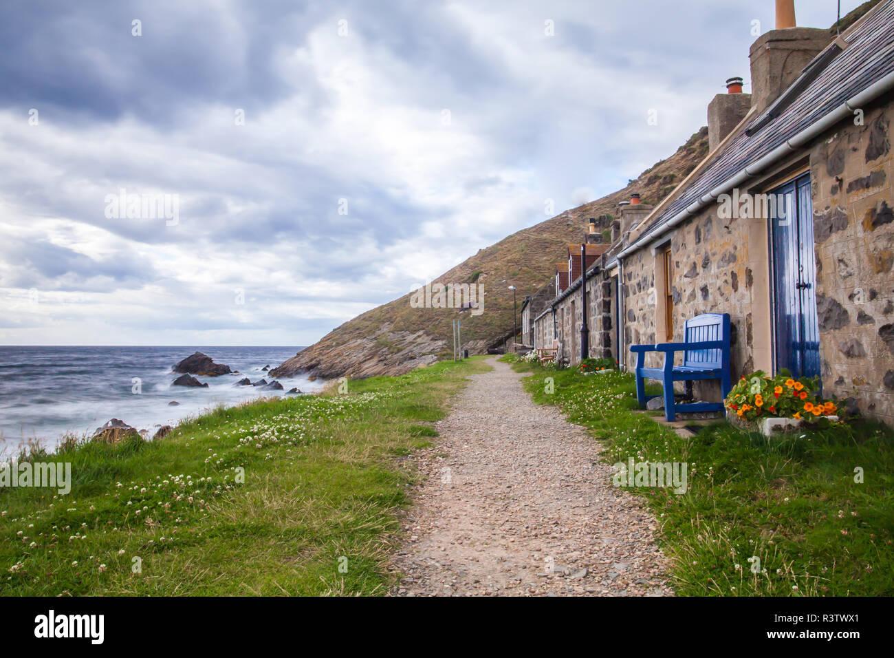 crovie small village Stock Photo
