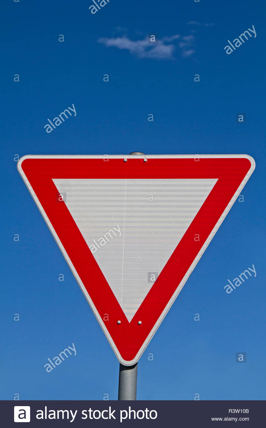 give way - Stock Image