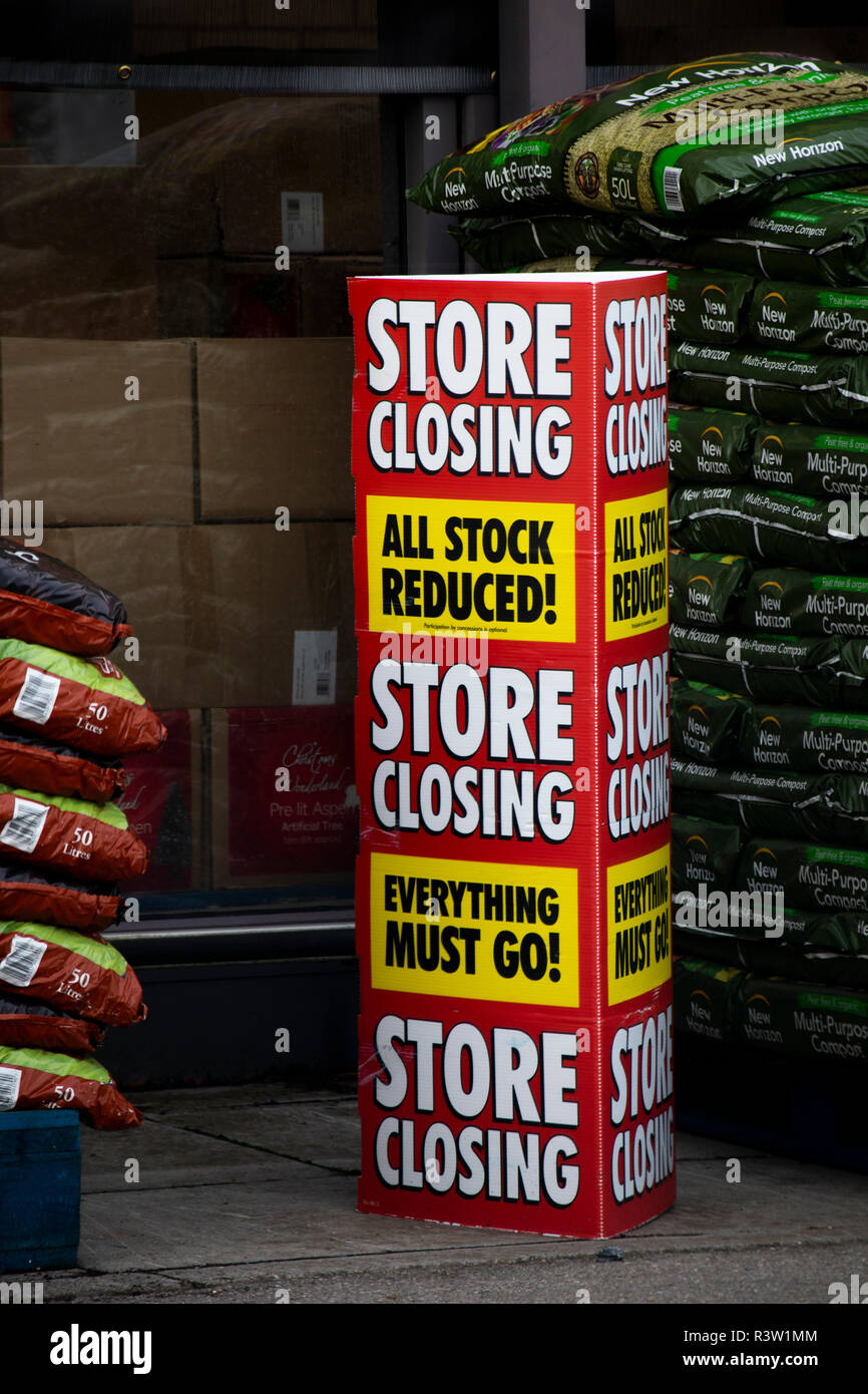 Homebase store closing down, British home improvement retailer and garden centre, with stores across the United Kingdom Stock Photo