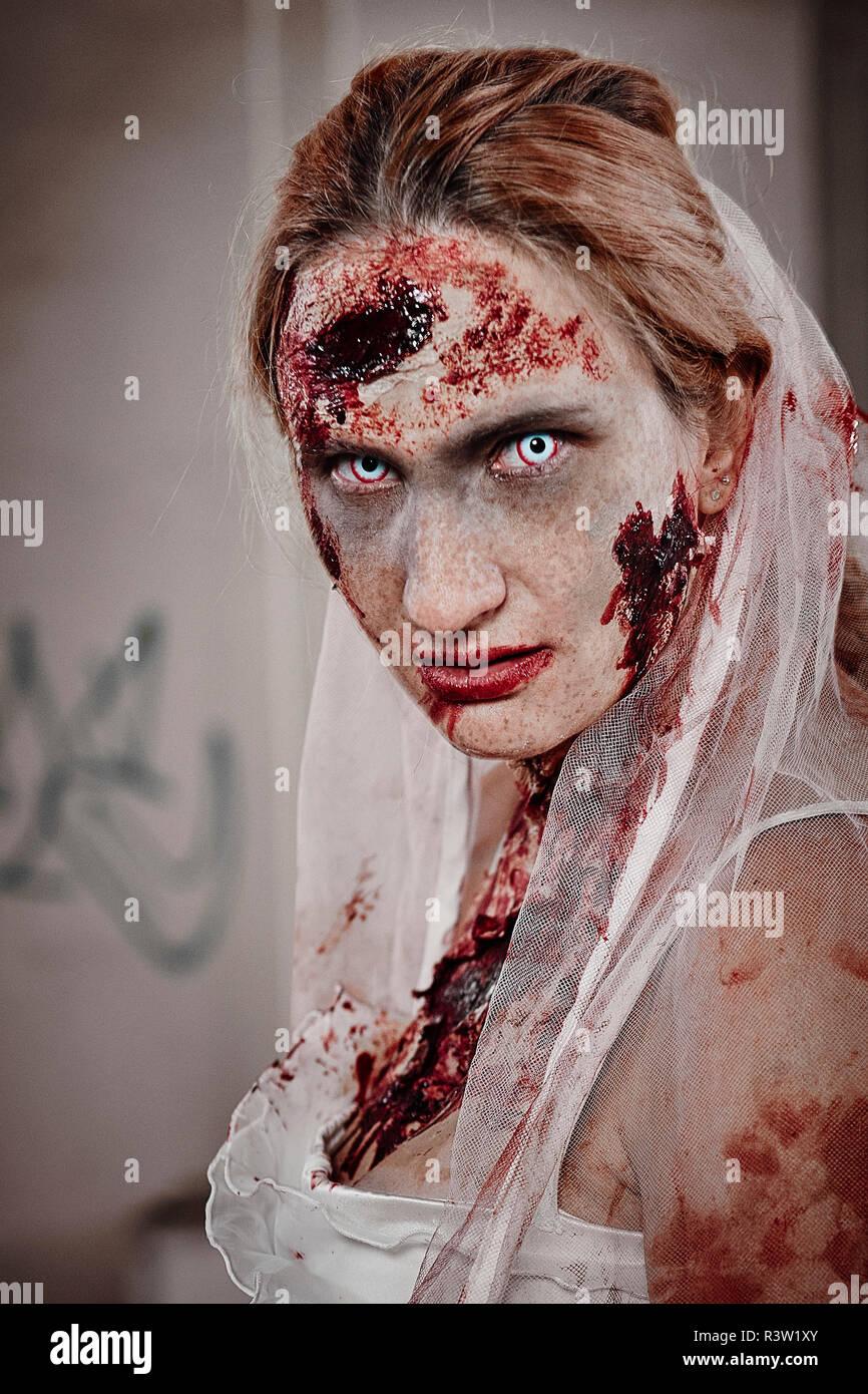 Zombie Braut Stock Photo
