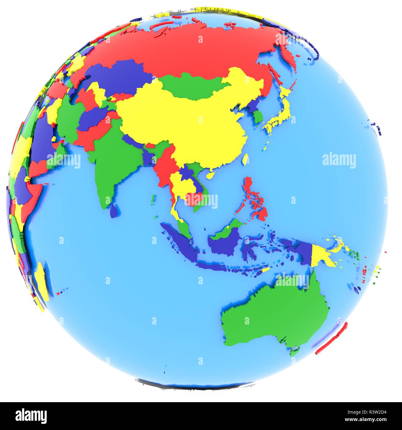 Eastern Hemisphere Political Map World Stock Photos Eastern
