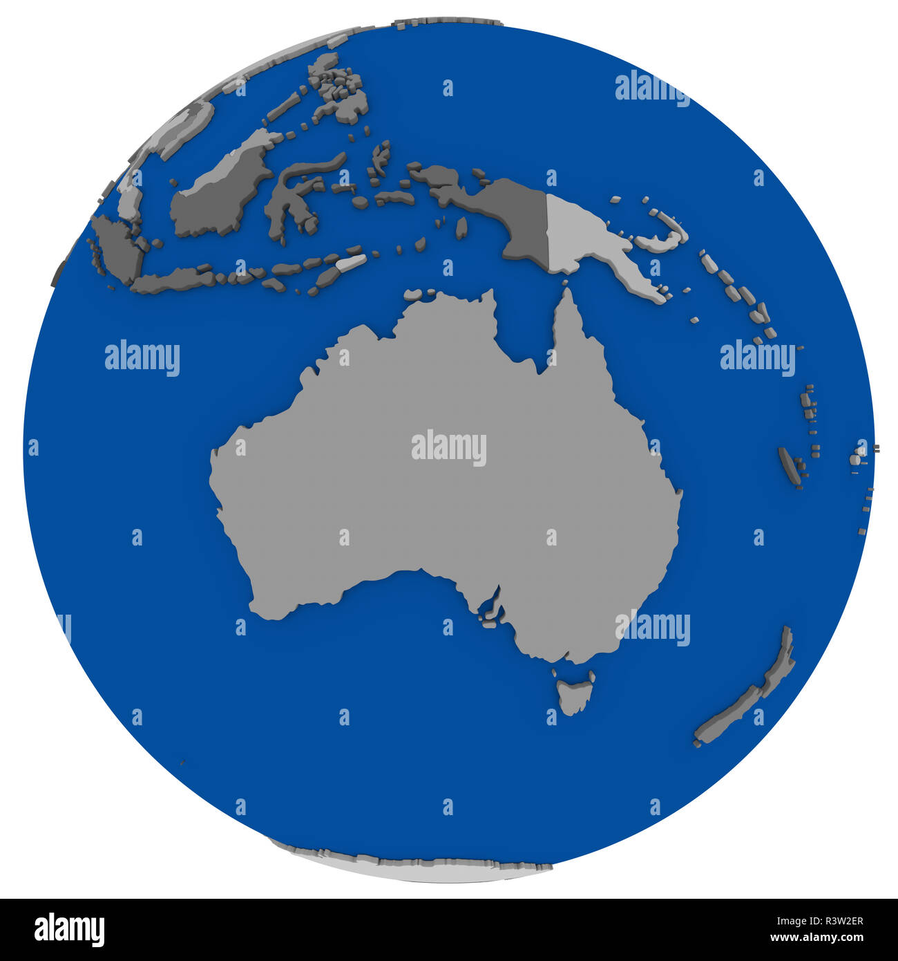 Australia On Earth Political Map Stock Photo 226129535 Alamy