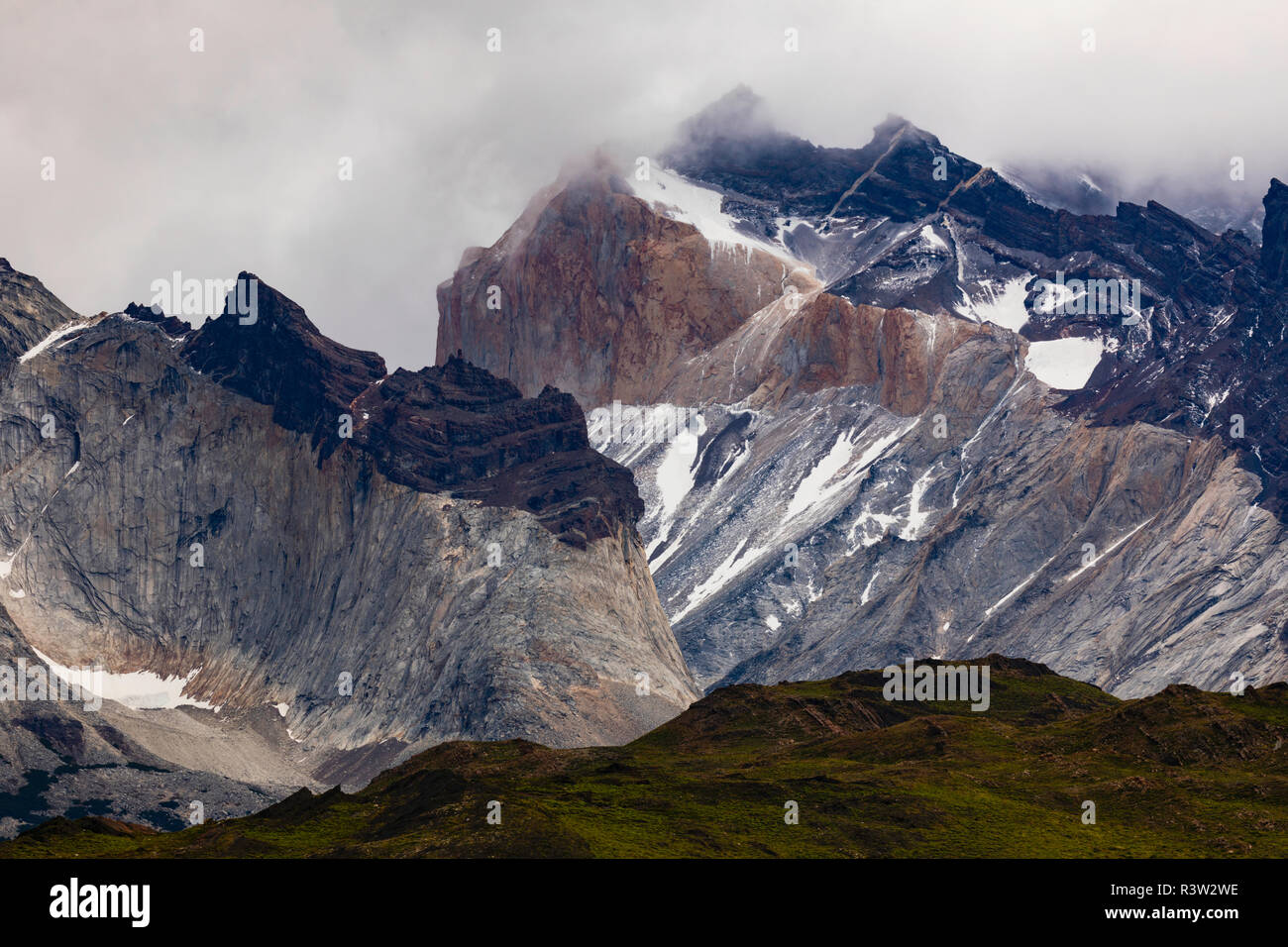 Patagonia South America >> Mountains And Mist Torres Del Paine National Park Chile