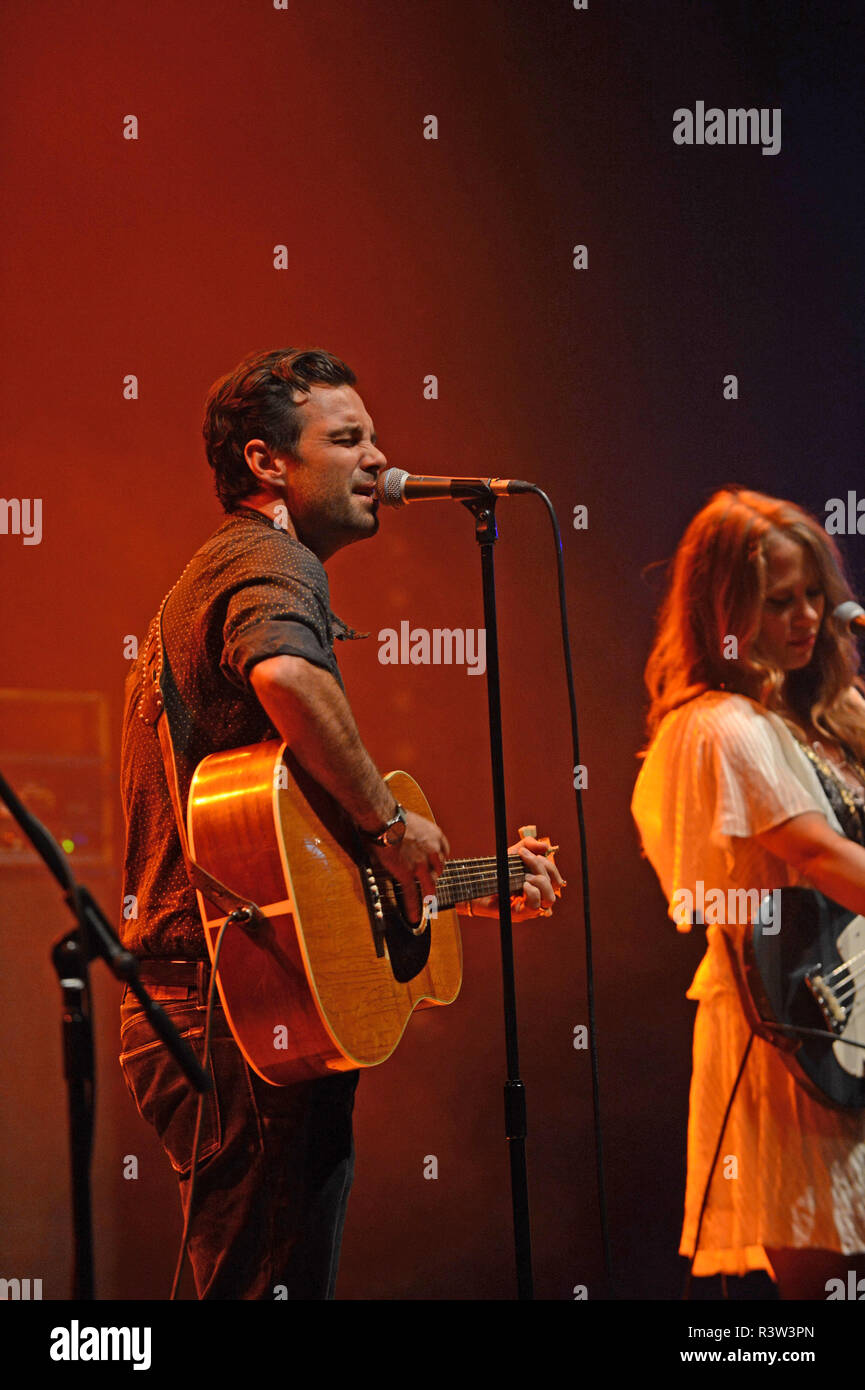 The Lone Bellow band playing at Mareel in the Shetland Isles Scotland Stock Photo