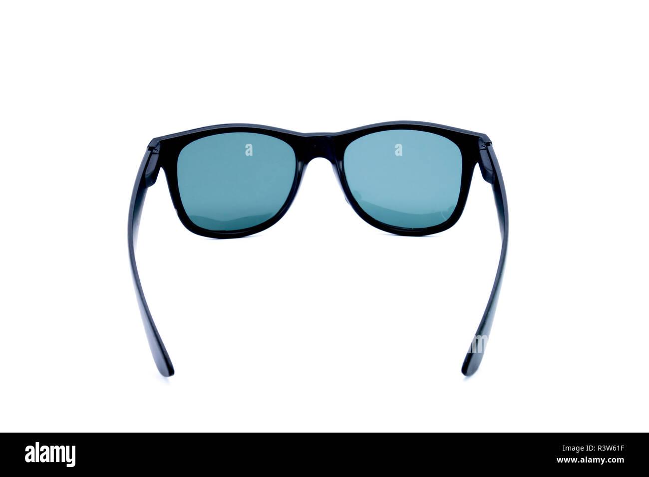 bede3838a83c Black glasses to improve eyesight isolated on white background - Stock Image