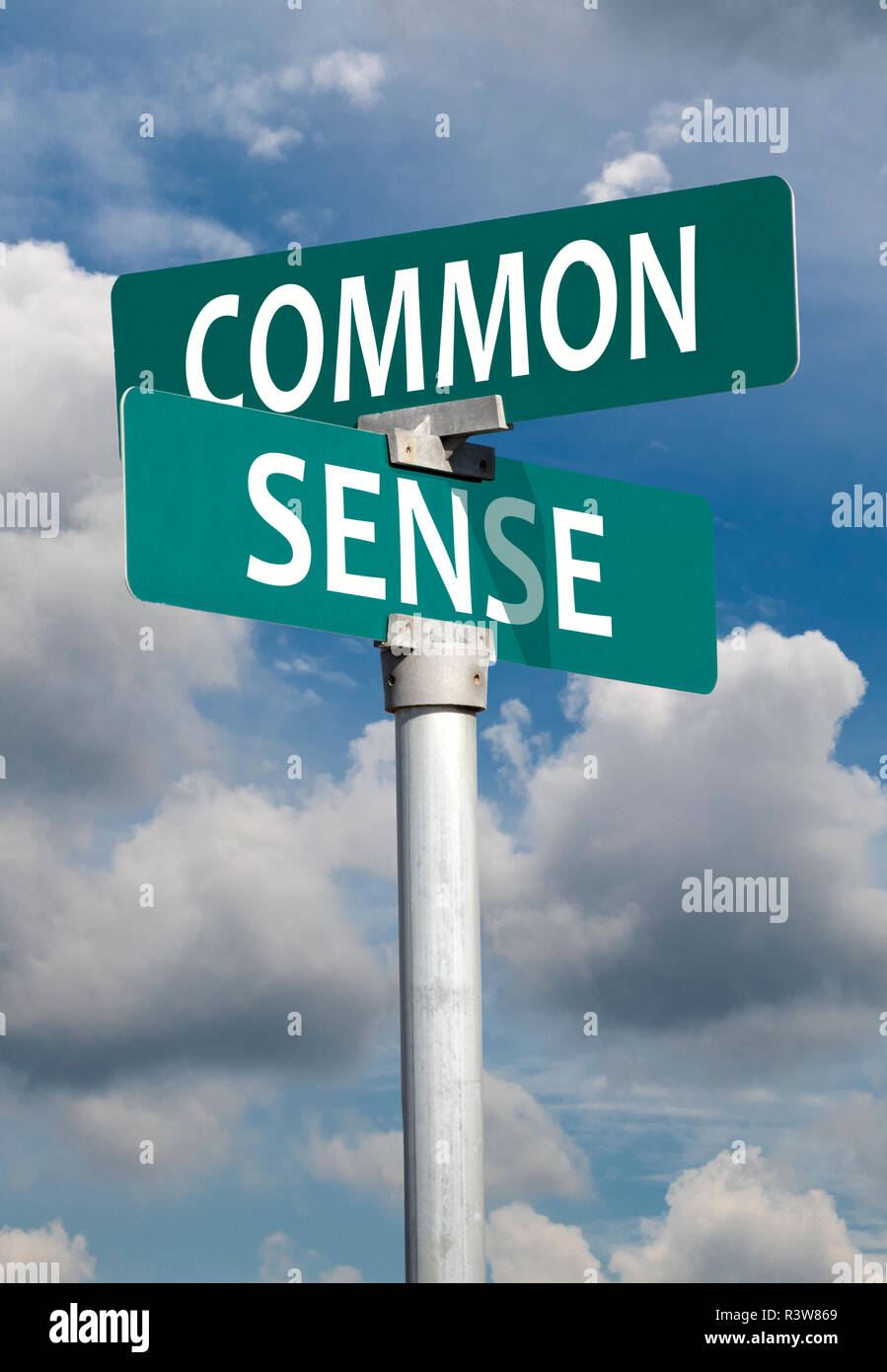 Common sense sign - Stock Image