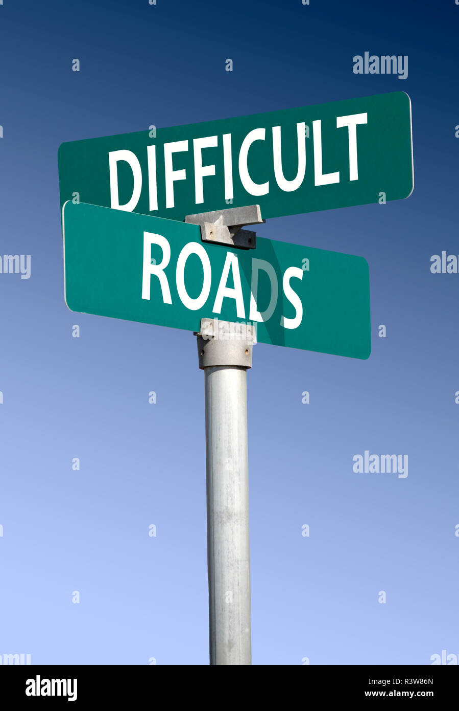 Difficult roads - Stock Image