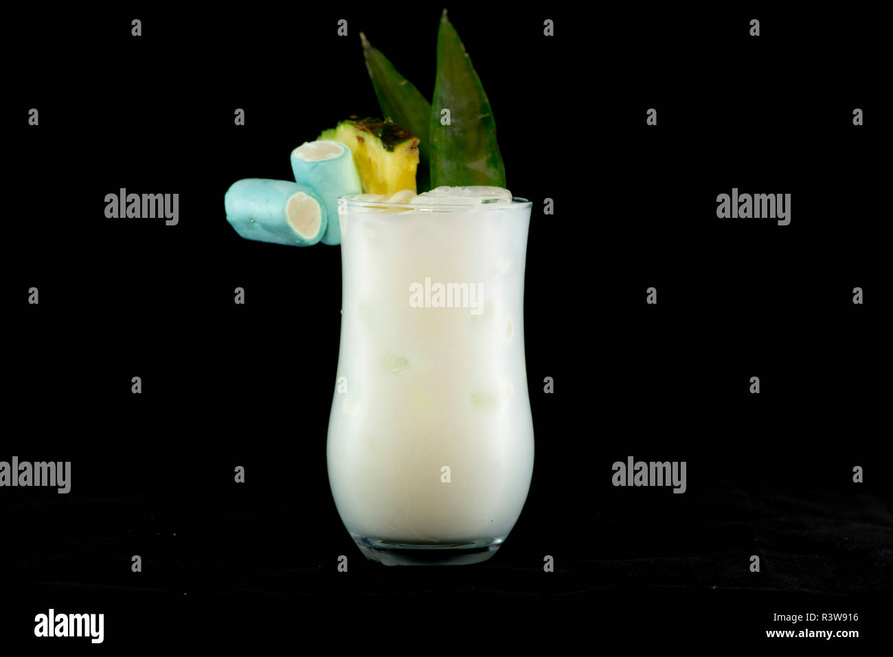 Pina Colada Cocktail With Pineapple Juice White Rum And