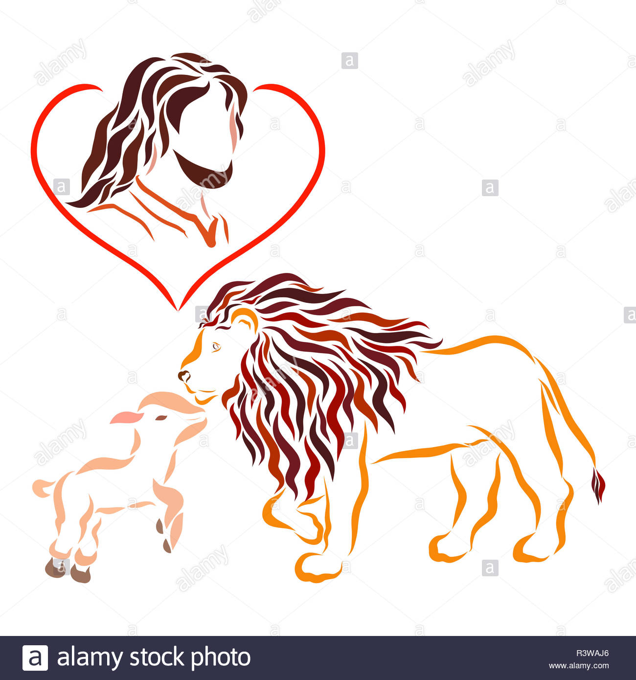 Lion And Lamb Cut Out Stock Images Pictures Alamy