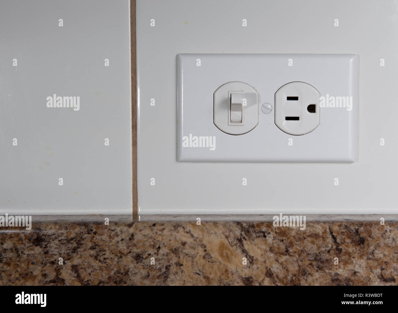 Electric Switch Gear Stock Photos Residential Wiring Light 110v Power Device To Turn On And Off Lights At