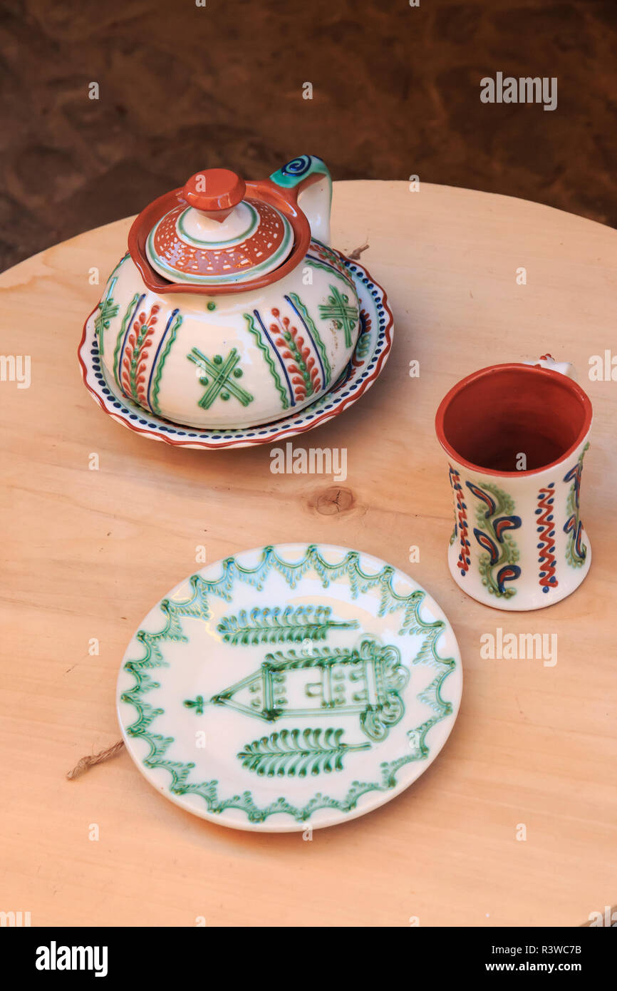 Romania, Mures County, Sighisoara local pottery and ceramics Stock